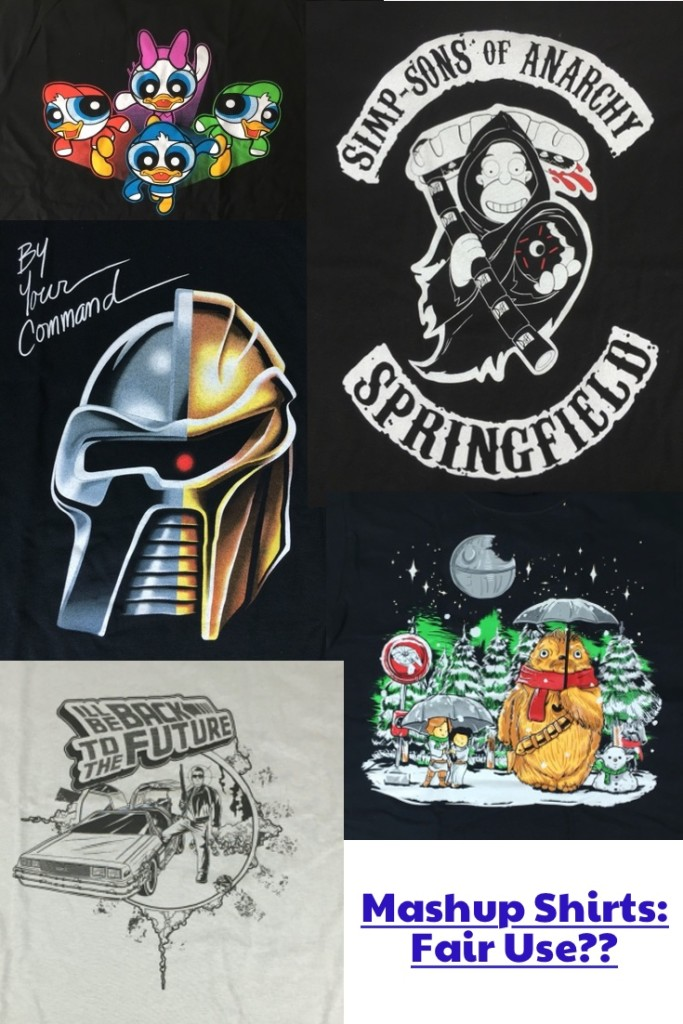 Transformative fair use a mashup t shirt roundup for How to copyright t shirt designs